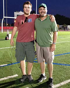 Neil Hayes (right) and son, Nick