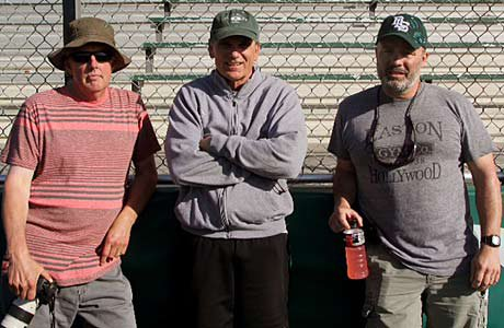 (Left to right) Photographer Bob Larson, former De La Salle head coach Bob Ladouceur and author Neil Hayes worked together to help make a film that depicts to the California high school's legendary run of football success.