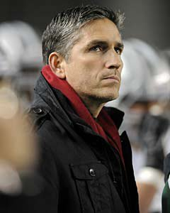 Actor Jim Caviezel on the sidelines at De La Salle's 2012 state title win.