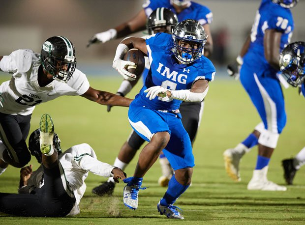 IMG running back Trey Sanders is rated the top senior running back in the country.