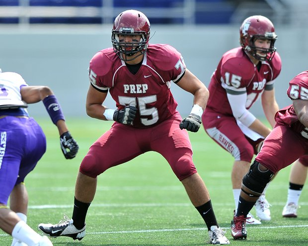 Michigan-bound Jon Daniel Runyan (75) hopes to lead St. Joseph's Prep to a state championship.