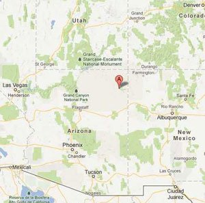 Chinle is located in the Four Corners region.