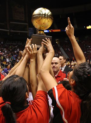 Around 10,000 people watched the Page High girlswin the AIA Division III state title last season bybeating Winslow, another team that hails from Navajocountry. The land for Page, Ariz., was acquired fromthe Navajo Nation.