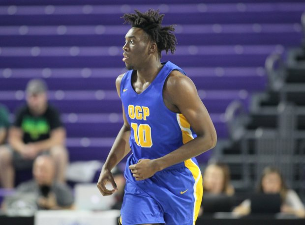 Nassir Little in action at the City of Palms Classic in December.