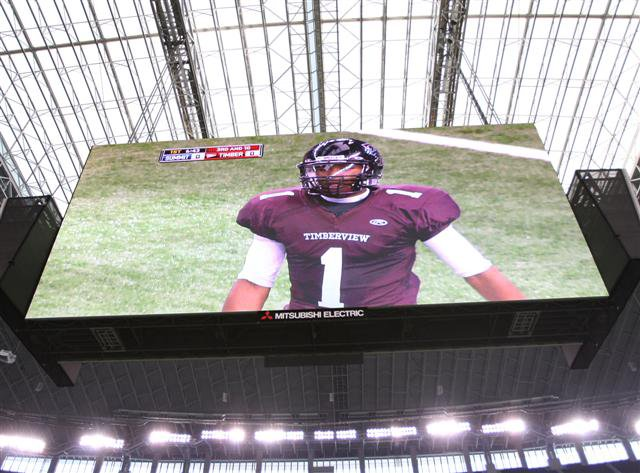 Fans, media and even the players couldn't take eyes off the 72-foot tall, 60-yard wide video board.