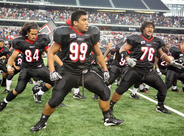 Trinity's brawn and spirit was perhaps best displayed in postgame Haka ceremony.