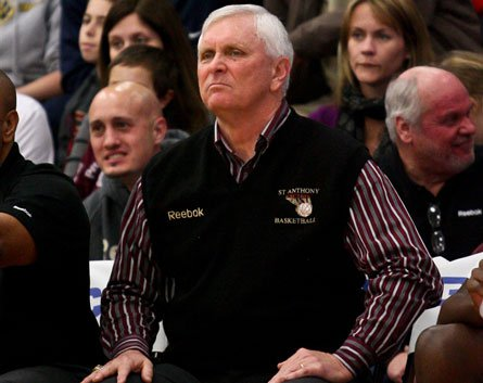This guy again?: Managing the pressure of a 53-game win streak may be the biggest obstacle remaining for Bob Hurley's top-ranked St. Anthony Friars.