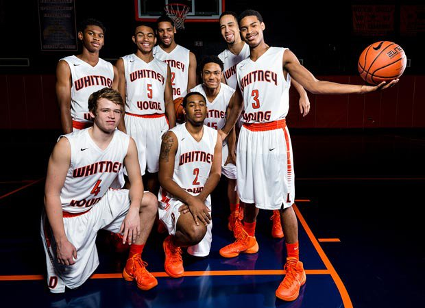 Whitney Young features one of the top rotations in the nation and includes players (clockwise from No. 4): Joe Luzadder, Anthony Mosley, Skyler Nash, Jahlil Okafor, Rodney Herenton Jr., Paul White, Miles Reynolds and Erwin Henry.