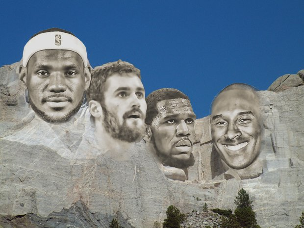 Our Mount Rushmore includes LeBron James (Class of 2003), Kevin Love (2007), Greg Oden (2006) and Kobe Bryant (1996).