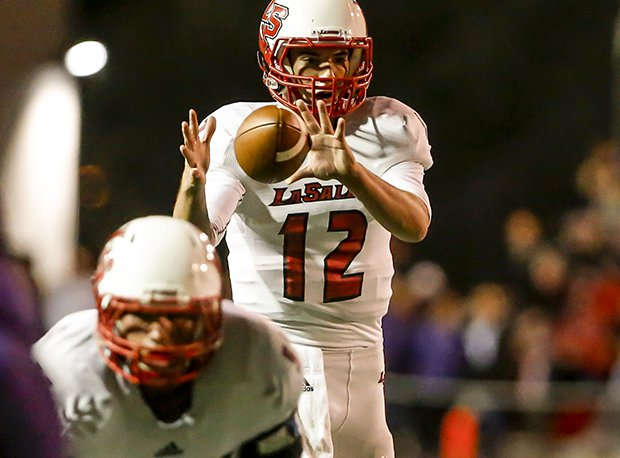 La Salle senior quarterback Griffin Merritt and the Lancers are looking for a fourth-straight state title.