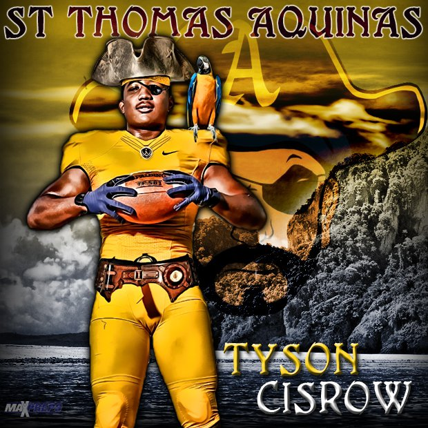Tyson Cisrow seeks to smash any scallywag receivers coming across the middle.
