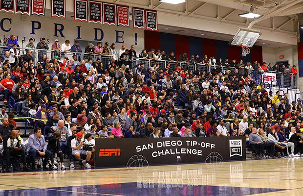 The stands were packed in San Diego for the nation's No. 3-ranked high school basketball team.