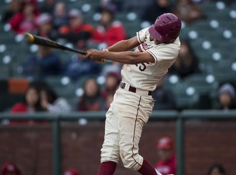 Lowell senior Elijah Saunders belts one of his three doubles, leading his team to a 7-0 San Francisco Section championship win over Washington at AT&T Park Wednesday. Saunders also pitched a four-hitter with eight strikeouts as Lowell won its 18th SFS title and first at the Giants' home park since 2008.