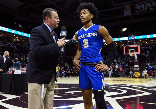 Sharife Cooper interviewed after the title game at the Bass Pro Shops Tournament of Champions in January.