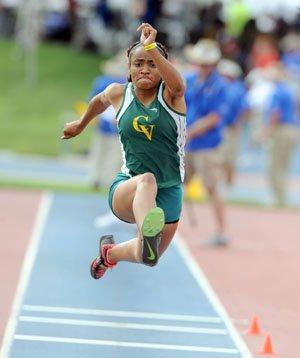 Triple jump champion Kennedy Jones