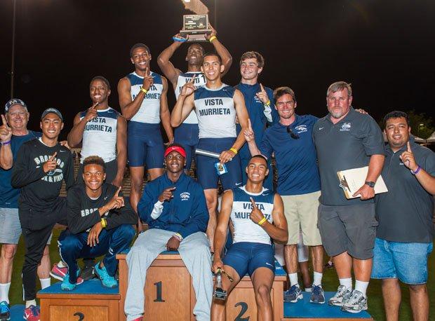 Vista Murrieta celebrates its first CIF State Track and Field team championship.