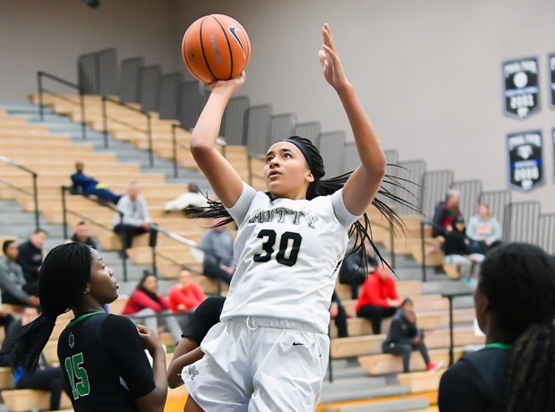 Mitty junior wing Haley Jones shoots a jumper in the lane during last week's Nike Tournament of Champions tournament in Phoenix (Ariz.).