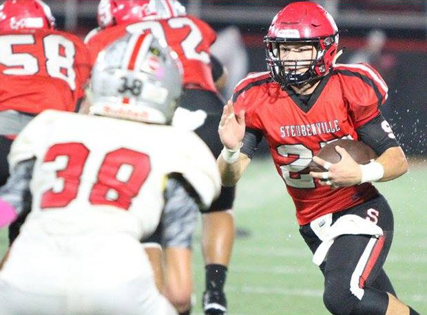 Steubenville senior running back Jacob Bernhard and Big Red are looking to reach a third straight state final.