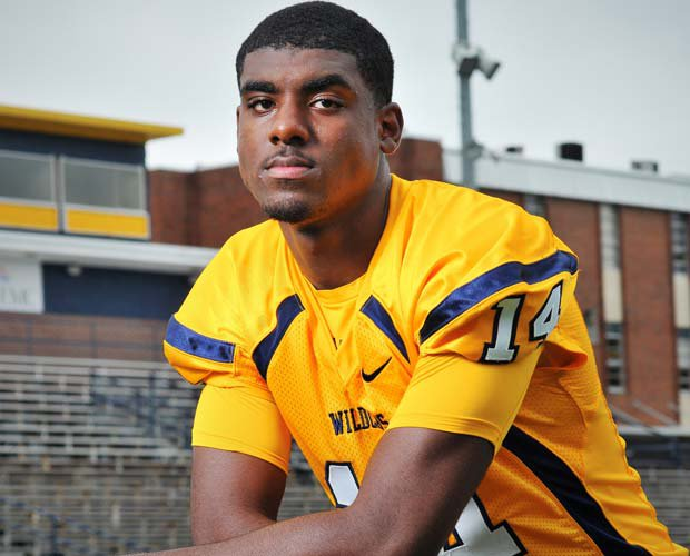 Elijah Staley is a big presence on the football field, on the basketball court and on the track. He plans on having the same presence as a multi-sport star at Mississippi State.
