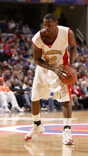 LeBron James as a McDonald's All American in 2003
