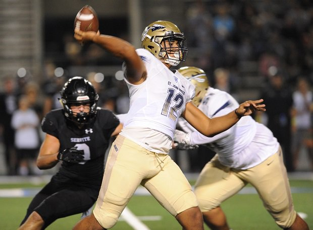 DJ Uiagalelei, a 5-star quarterback from St. John Bosco, committed to play in the 2020 Polynesian Bowl