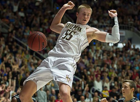 Eric Mika tallied 16 points and 18 rebounds to help Lone Peak capture its third state title in a row and put an exclamation point on a national championship season.