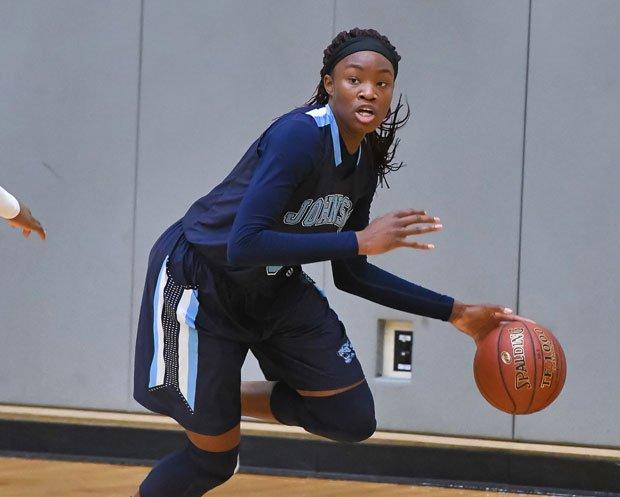 Johnson senior Alyssa Adams is averaging 13.7 rebounds per game.