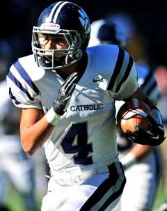 Andrew Celis caught five passes for Marin Catholic, including a TD.