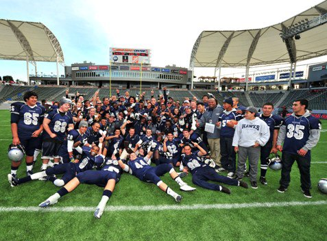The Madison Warhawks are the Division III CIF State Bowl Championship winners.