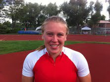 Eaton's Karli Jelden set a Class 3A meet record in the pole vault Friday.