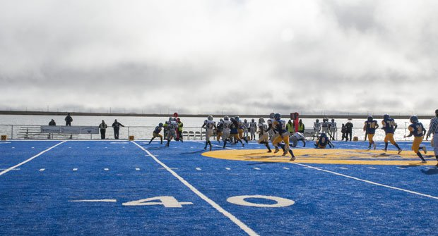 Barrow High has an ocean view, just like Lahainaluna. The difference is that Barrow borders the Arctic Ocean. You won't find a harsher locale for football in America.