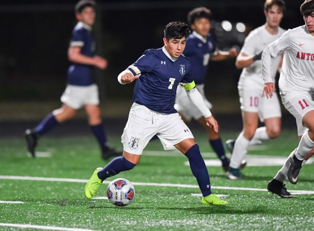 Jose Gallegos scored 21 goals and distributed nine assists for Central Catholic's state championship team this winter.