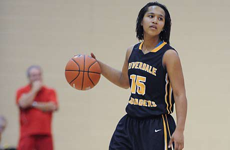 Auteaonna Gilmore and Riverdale Baptist pulled off an upset of No. 1 Bishop O'Dowd on Friday at the Nike TOC.