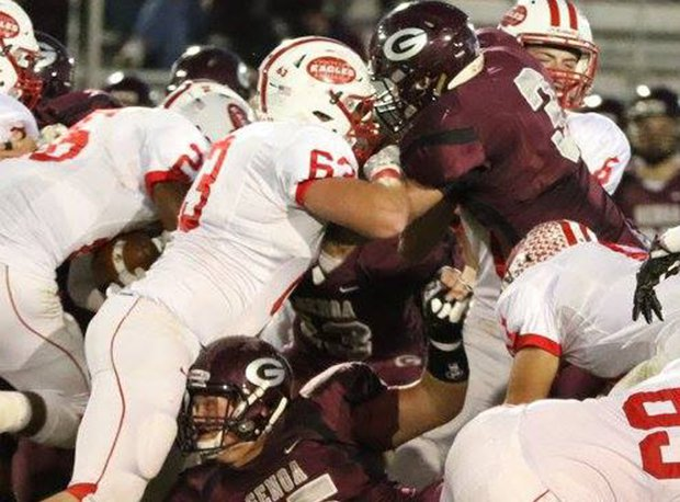 Genoa's Drew Bench (No. 3) holds offers from Air Force, Ball State and Bowling Green. Has 28 TFL last two years.