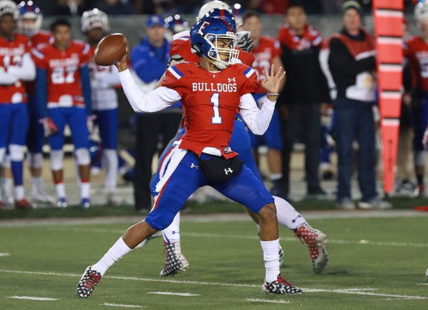 Folsom quarterback Kaiden Bennett accounted for six touchdowns in his team's victory over Helix on Friday night at Sacramento State.