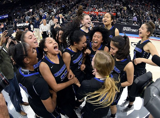 Windward after winning the CIF Open Division title.