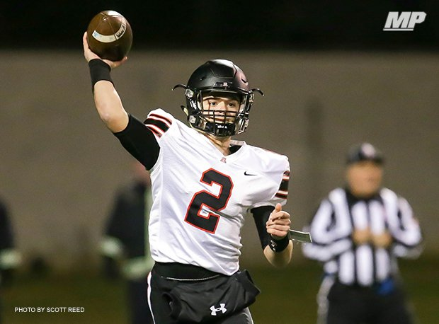 Jonathan Alder (Plain City) quarterback J.T. Keith led the Pioneers to the D-III regional finals last season.