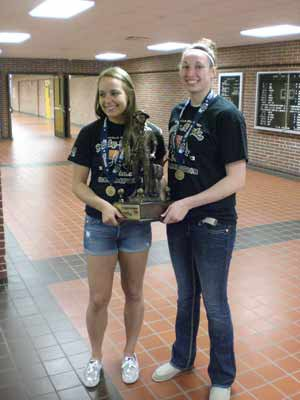 Jessica Shepard, right, is at Fremont this year. Lastyear (pictured) she was with Lincoln Southeast, whichdid not qualify this year.