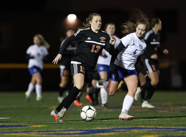 Chloe DeLyser in action last November against Geneseo in the Section 5 Class C2 final.