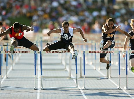 Another great heat in the boys 110 high hurdles.