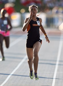 Cordova's Nia Dorner ran the second fastest 400 time in the country this year at 53.12.