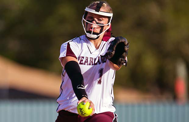 Pearland's Samantha Show pitched well beyond her years this season, compiling a 30-4 record and earning MaxPreps Sophomore of the Year honors.