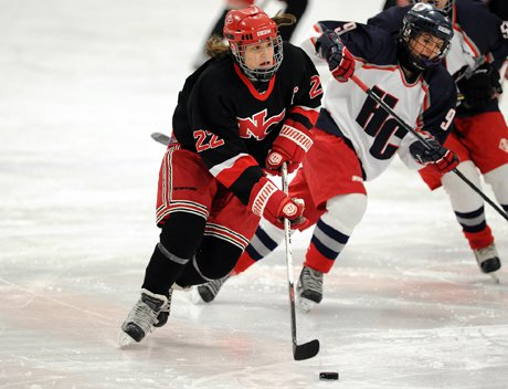 Looking up ice and looking for open teammates are assets that have made Olivia Hompe one of Connecticut's all-time girls hockey greats.