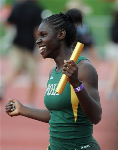 Ndipagbor earlier celebrated relay win and later team title.