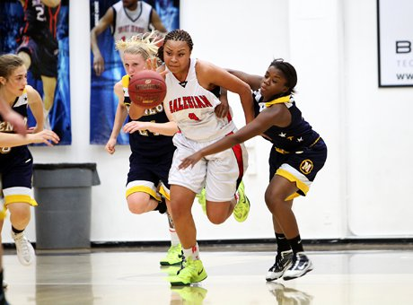 Salesian junior guard Mariya Moore showed why she's one of the top players nationally in her class with a triple double in a semifinal win over Menlo.