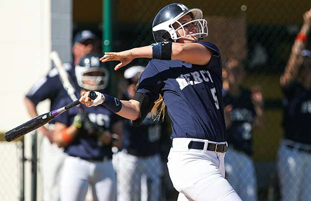 Junior Aidan Falk of Our Lady of Mercy is one of the top 60 softball players from medium-sized schools across the country.