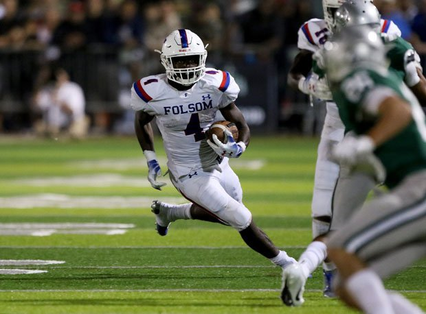 Folsom 4-star running back Daniyel Ngata rushed for more than 100 yards in last year's game versus De La Salle.