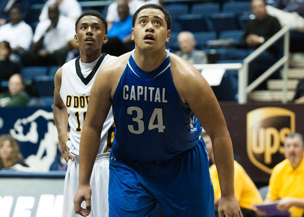 Nifae Lealao brings some muscle to the lineup for California contender Capital Christian.