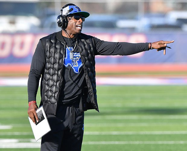 Deion Sanders has helped Trinity Christian to three straight TAPPS state titles.