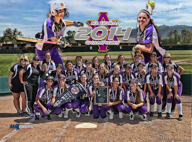 Amador Valley is our 2014 softball national champion.